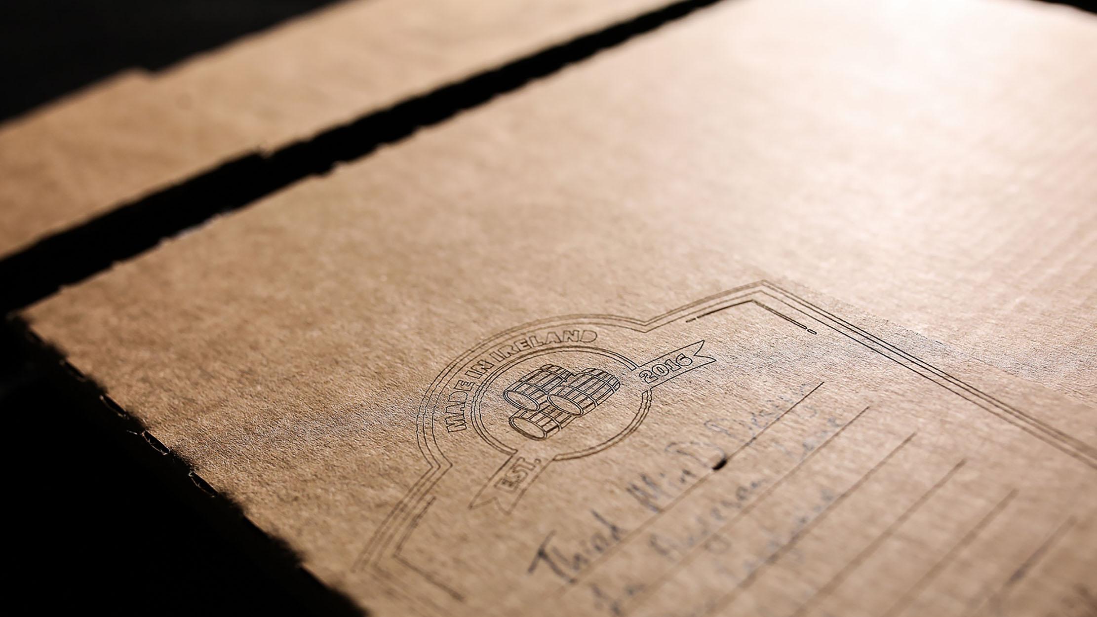 Custom Packaging for Irish Whiskey Magazine -1